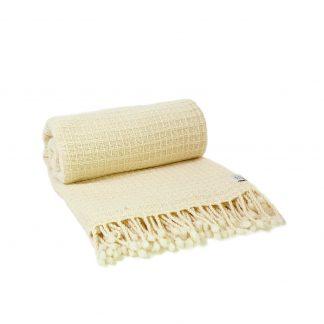Merino deka nebarvená se vzorem 150 x 200 cm