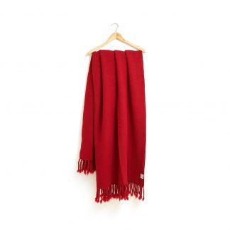 Vlněná deka červená 150 x 200 cm