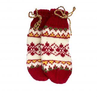 Vlněné ponožky červeno-bílo-modré č. 37-38