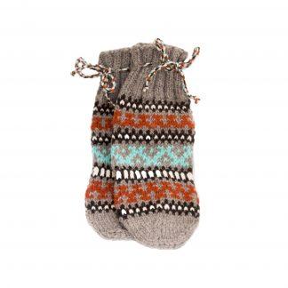 Vlněné ponožky šedo-hnědo-modré č. 37-38