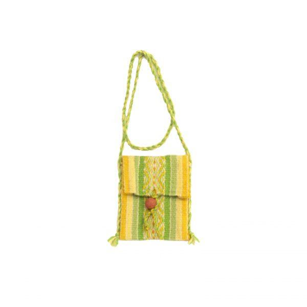 Taštička vlněná malá žluto-zelená