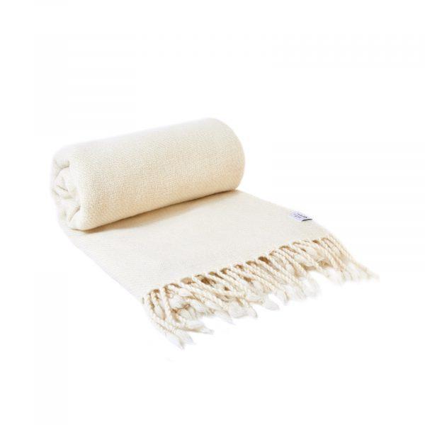 Merino deka tkaná nebarvená 150 x 200 cm