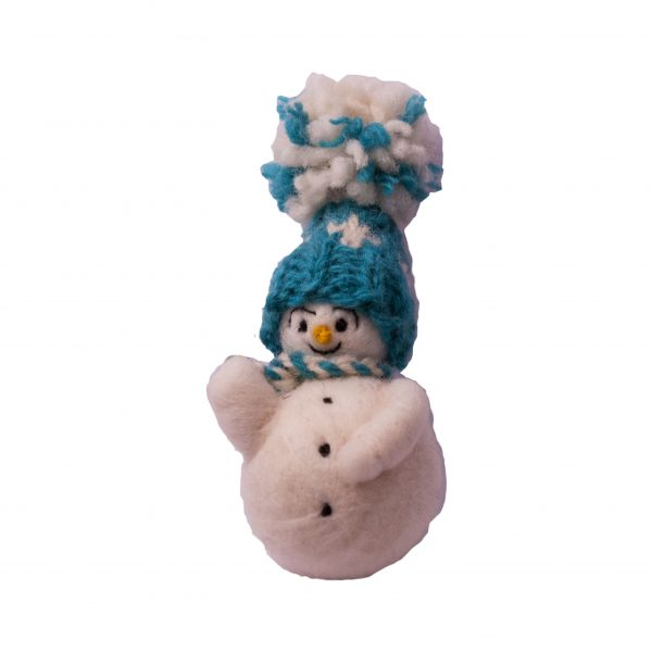 Sněhulák s modrou čepicí