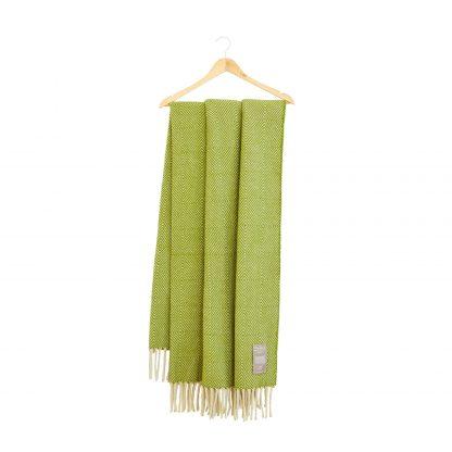 Vlněná merino deka Burel Diamante - zelená 130 x 180 cm
