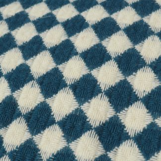 Vlněná merino deka Burel Azulejo - modrá 130 x 180 cm