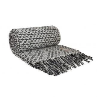 Vlněná merino deka Burel Vintage - šedá 130 x 180 cm
