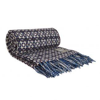 Vlněná merino deka Burel Vintage - fialová 130 x 180 cm