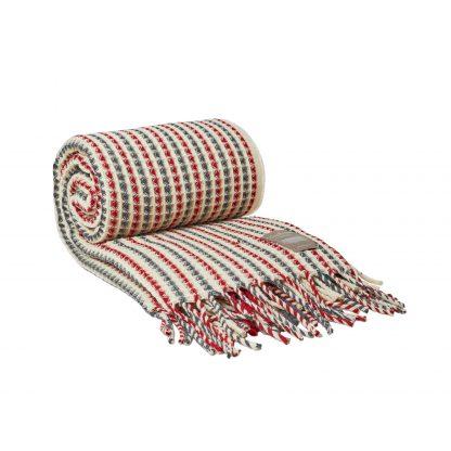 Vlněná merino deka Burel São Lourenço Stripes - 130 x 180 cm